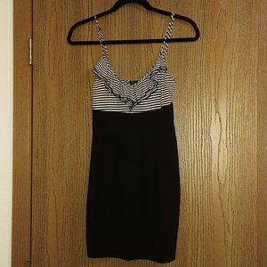 Cute Black and Cream Dress